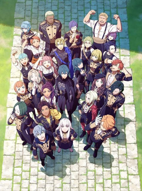 three houses image