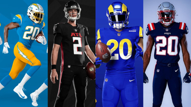 ranking 2020 nfl uniforms cover