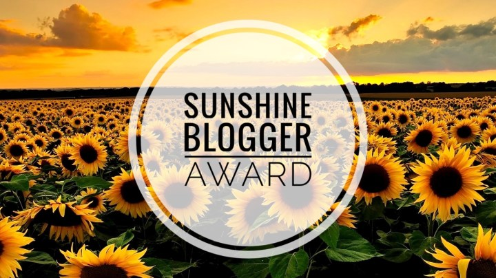 sunshine blogger award cover
